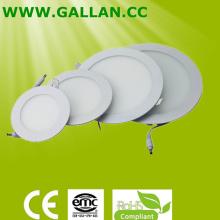 Hot Sale 6W / 9W / 12W / 15W / 18W luzes de painel LED redondas finas (GHD-PR-6W)