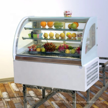 vitrine refrigerada da exposição do armário do bolo para a padaria