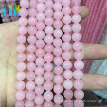 Grânulos baratos da jóia de pedra preciosa da pedra de quartzo de Rosa natural para a fatura da jóia
