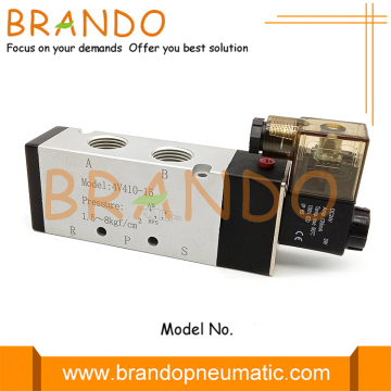 4V410-15 1/2 '' 5/2 Way Single Solenoid Pneumatic Valve