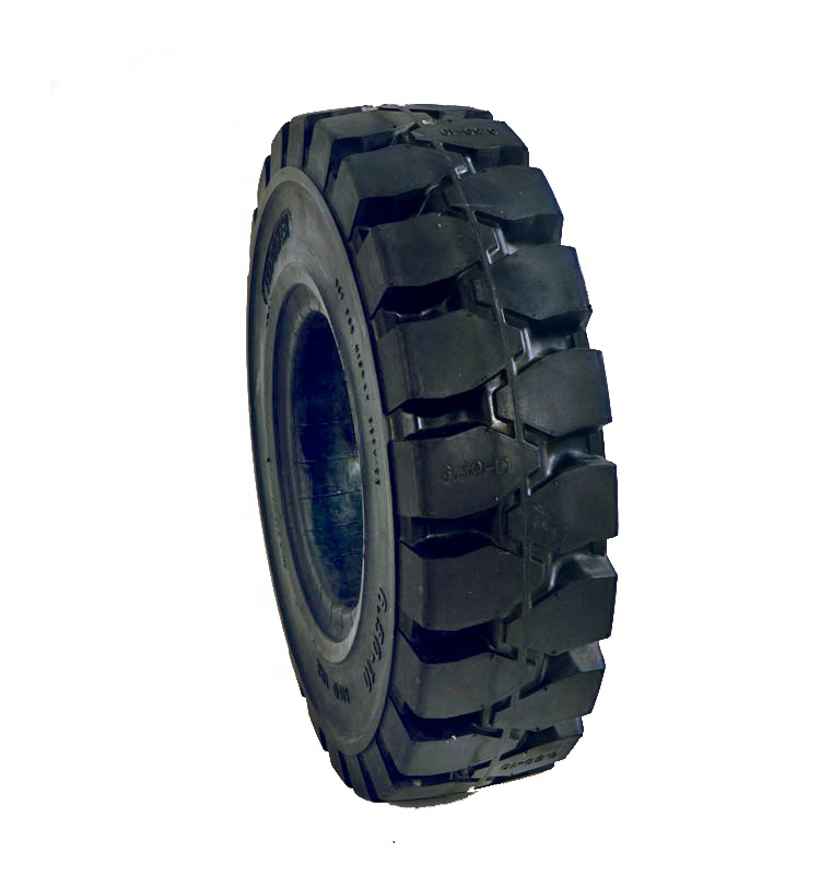 China 6 5 10 Solid Forklift Tire 10 Inch Rubber Wheel
