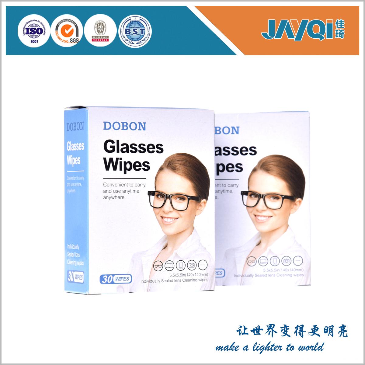 Pre-moistened Lens Wipes