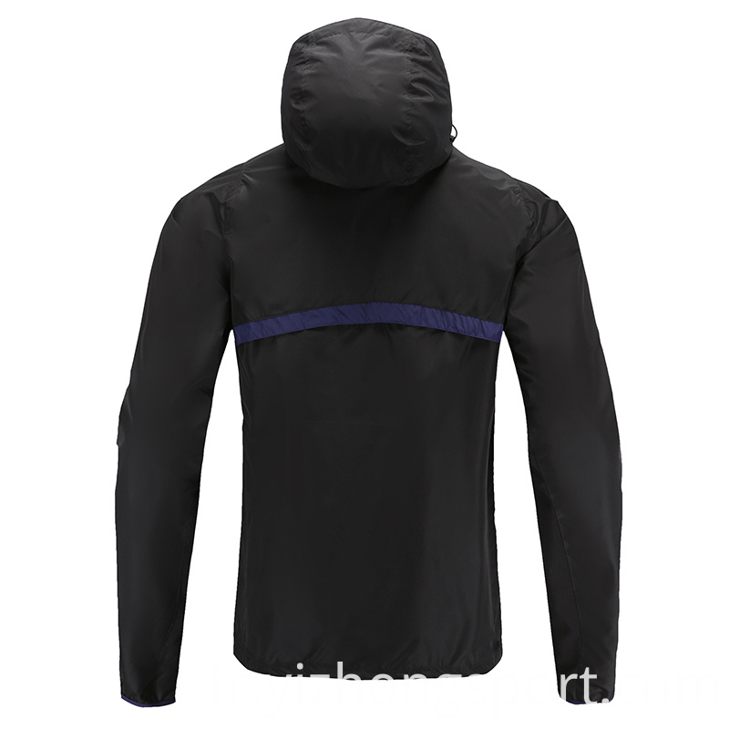 Soccer Wear Zip Up Hoodies Polyester