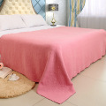 Ukuran King Floral Embossed Peach Blanket Throw
