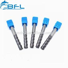 Molinos de extremo BFL para aluminio / carburo 3 flauta Molino de extremo cuadrado Tamaño métrico