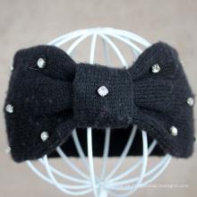 Art und Weise Stirnband für Frauen Wolle gestricktes Hairband mit Diamant