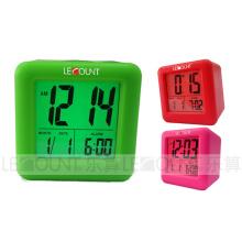 Calendario portable de Digtal LCD del silicio con la alarma y las funciones del Snooze (LC979)