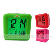 Portable Silicon Digtal LCD Calendar with Alarm and Snooze Functions (LC979)