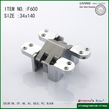 Cross concealed hinge torsion spring hinge