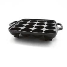 Best Quality Square Mini Takoyaki Grill Pan with Helper Handle