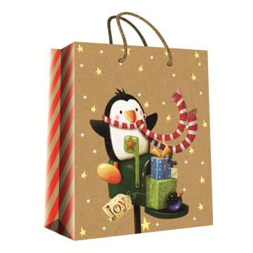 CHRISTMAS SERIES KRAFT GIFTBAG40-0
