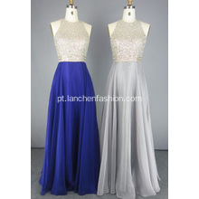 Damas Crystal Beads Evening Dress for Fall