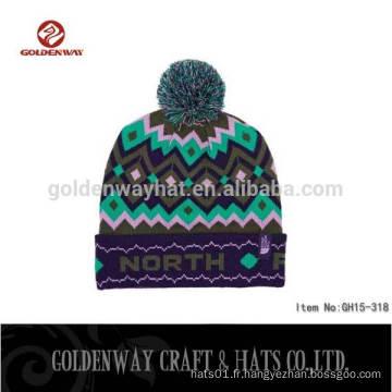 2016 Nouveau design dernière tenue de mode usure tricot hiver chapeau chapeau homme