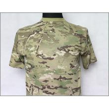 T-shirt tactique militaire Camo en coton de haute qualité