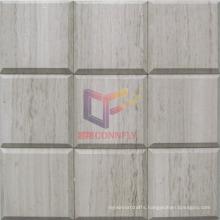 Belverd Style Wooden Marble Stone Mosaic (CFS1040)