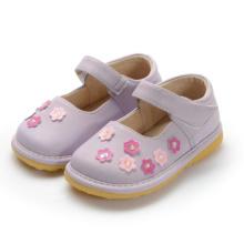 Purple Squeaky Schuhe Mädchen Kleine Blume