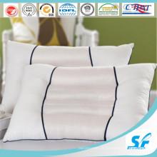 Taie d'oreiller 100 % coton jacquard de couleur blanche unie