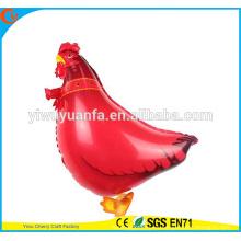 Gallo caliente del globo de la hoja del juguete del globo del animal que camina de la venta caliente para el regalo del cabrito