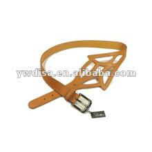 Women's PU Belt With PU, Alloy Accessoris With Gun-metal Plated