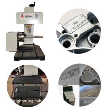 Skrin Sentuh desktop Dot Peen Marking Machine With Rotary