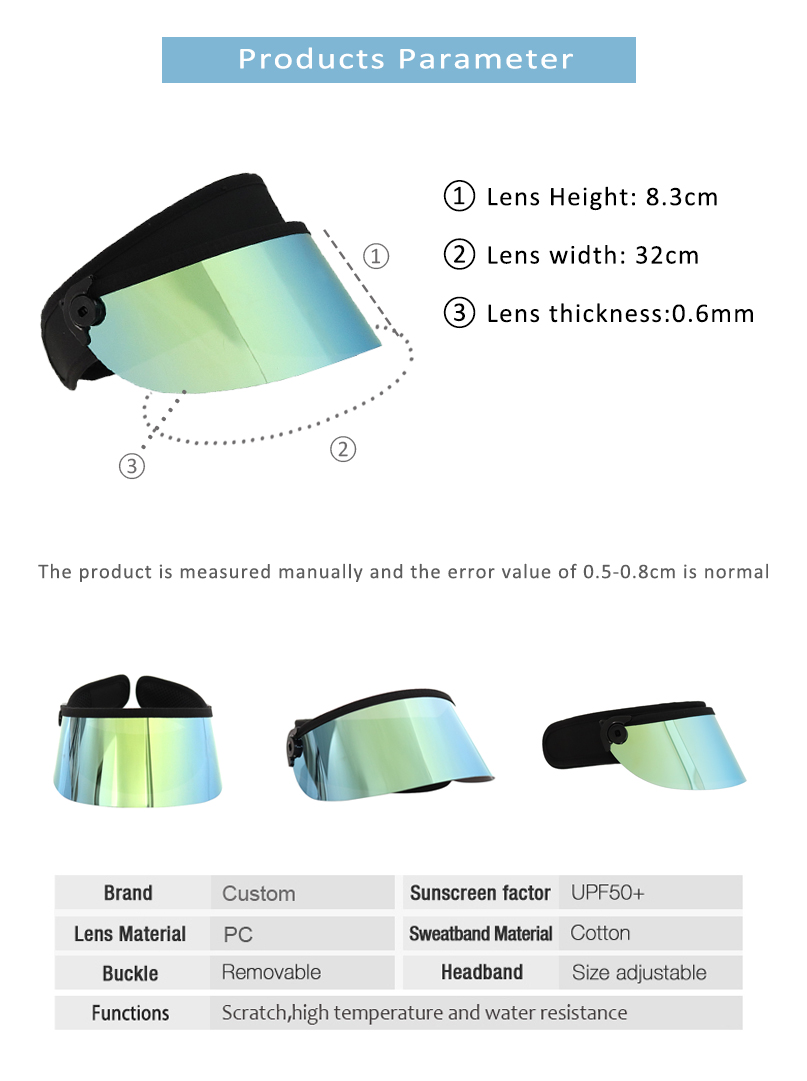 Kids Face Shield Sun Visor Hat Uv Protection Manufacture Factory Visor Hat