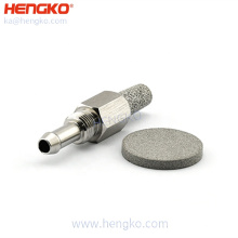 custom stainless steel 316 316L  HME filter viral bacterial for breathing machine and oxygen equipment
