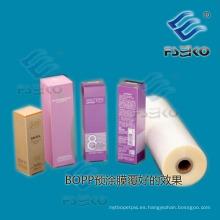 Película laminadora térmica BOPP normal con adhesivo EVA para impresión offset-27mic Gloss