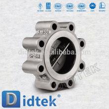 Didtek Non Slam Design Válvula de retención de doble placa Wafer Lug