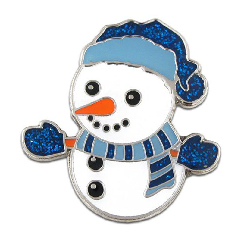 Holiday Snowman Pin
