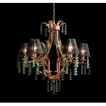 Original Country Style Green Crystal Wood Pendant Lamp (cos9233)