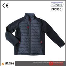 Latest Design Softshell Mens Black Padded Stitching Jacket