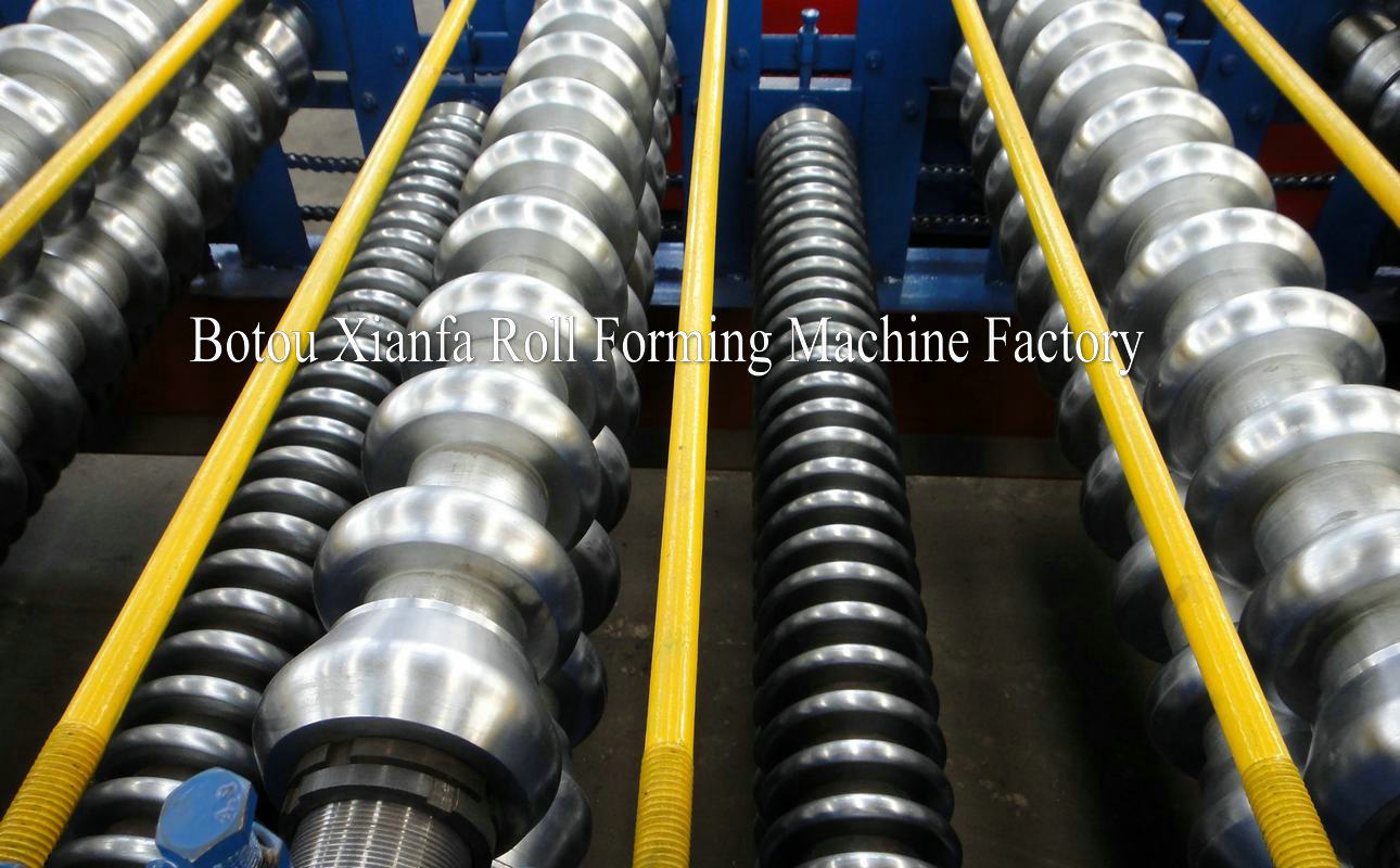 wave double deck roll forming machine