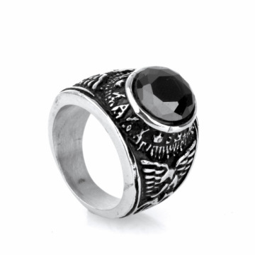 Stainless Steel men Jewelry Air Force Rings
