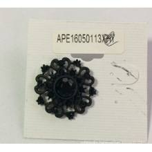 Lace Black Earring with Metal