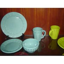 Keramik Glasierte Geschirr Set Schüssel und Teller