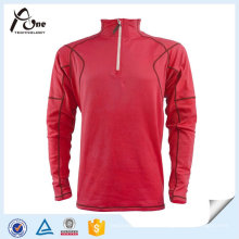 Kundenspezifische halbe Reißverschluss-lange Hülse Hemden Laufende Jerseys