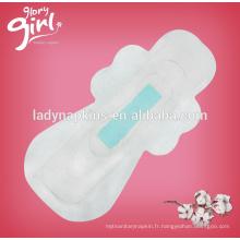 Usage de nuit externe sans étiquette privée de serviettes hygiéniques d'anion de saveur