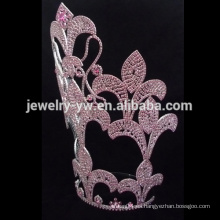 La forma de la tela de araña que platea la corona de encargo de la tiara del rhinestone