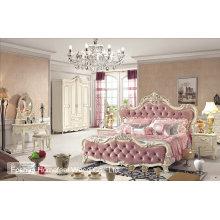Ensemble de meubles de chambre en bois massif en bois antique de haute qualité (HF-MG019)