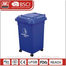 60L Outdoor Plastic Dustbin ,garbage bin ,garbage can with Wheels