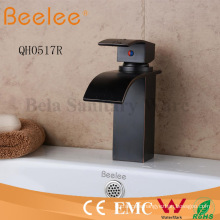 New Antique Orb Matte Black Square Waterfall Blade Bar Bathroom Basin Tap Mixer Faucet