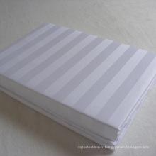 Drap de lit en coton blanc bon marché pour hôtel