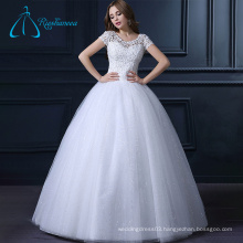 Tulle Satin Lace Ball Gowns Beaded China Custom Made Wedding Dress