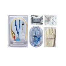 Bandeja descartável do kit para cateter urinário barato