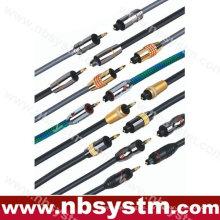 Cable óptico de fibra óptica digital Toslink