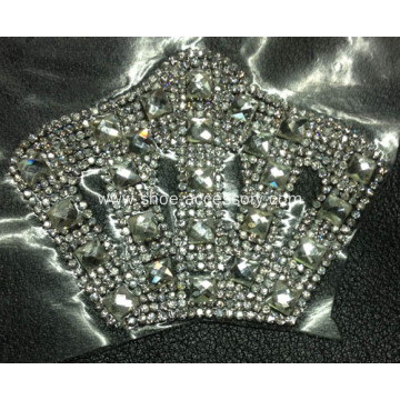 Rhinestone Motif, Vintage Embellishment for lady`s Shoes