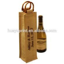 Sac en vin de coton non tissé en toile de jute sac de bouteille de vin