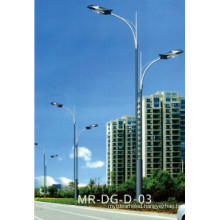 Tapered Street Light Post with Double Arm 12m