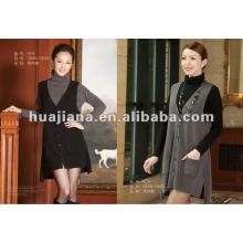 Elegante senhorita roupa de cashmere suéter / terno de duas peças