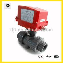 Válvula de esfera elétrica em miniatura UPVC AC220V para o sistema de filtro de água e água e tratamento de água